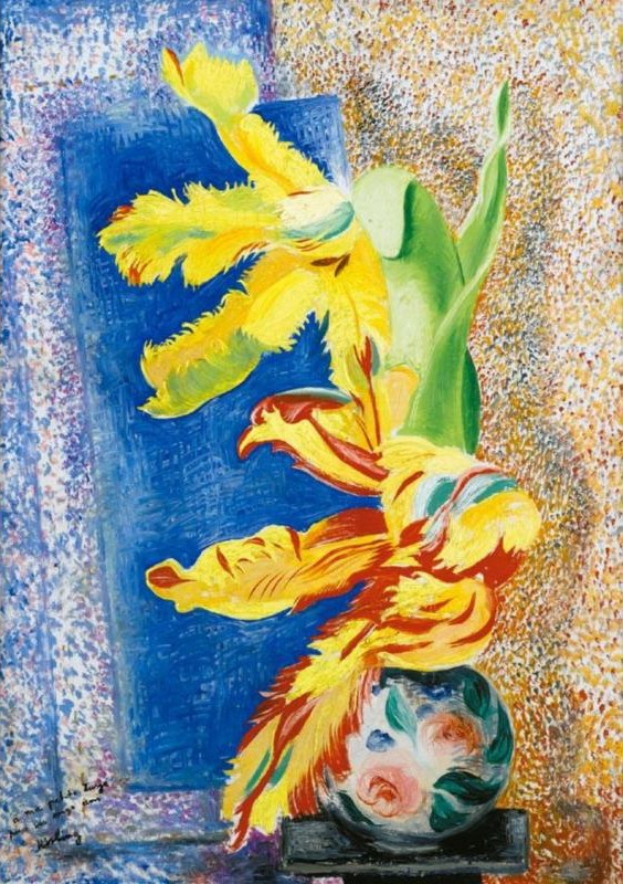 Still Life with Tulip in a Vase (Nature morte avec tulipe dans un vase)