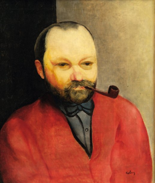 Portrait of a Man in Red with a Pipe (M. Rapoport)