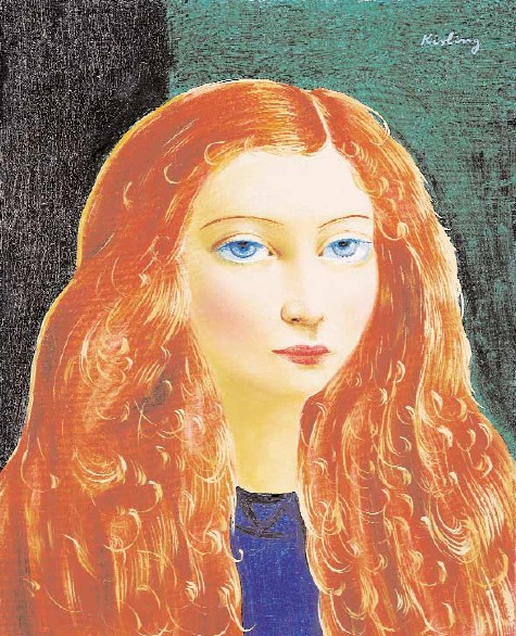 Red-Haired Girl with Blue Eyes (Rousse aux yeux bleus)