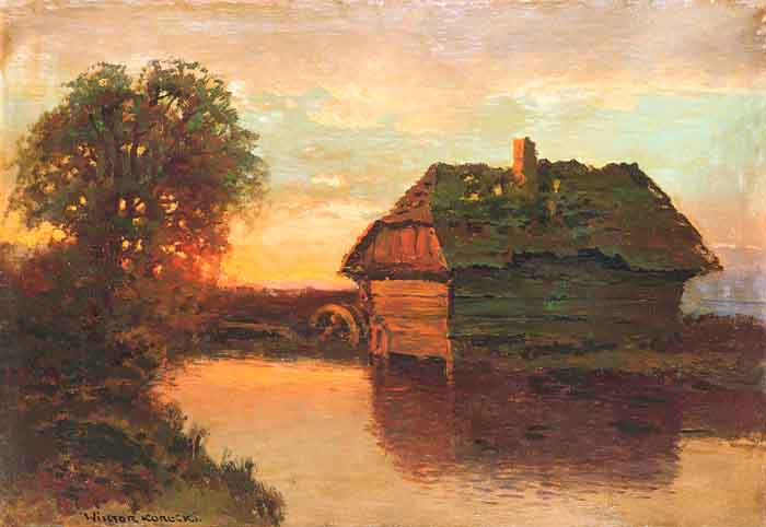 Water-Mill at Sunset