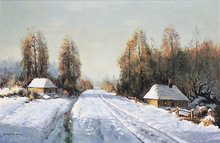 Winter Landscape with Cottages