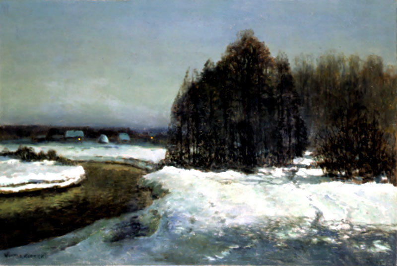 Winter Landscape with a River