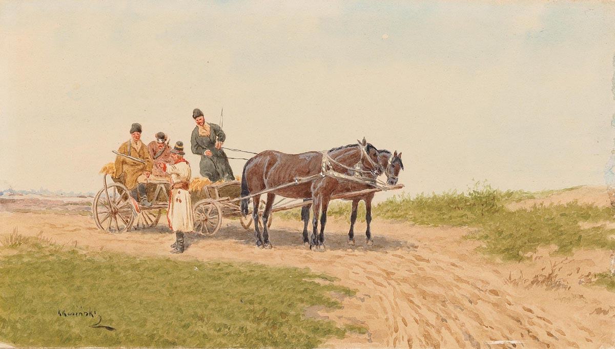 Horse Drawn Carriage on a Field Path
