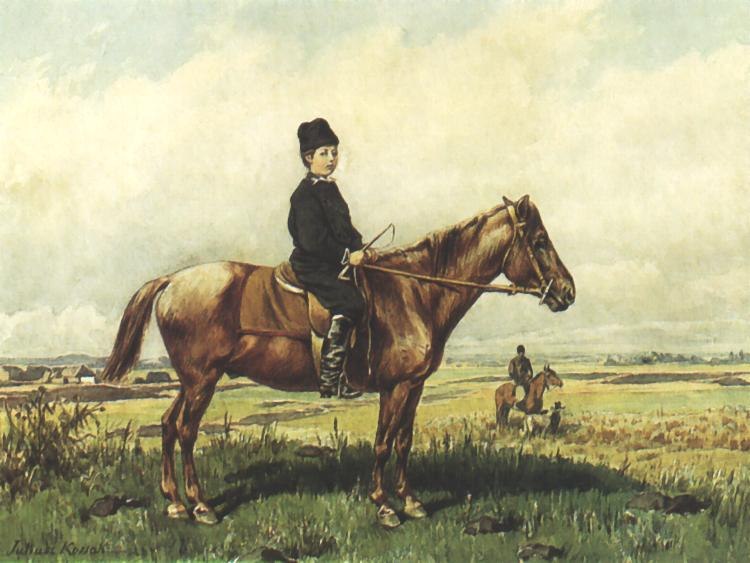 Portrait of a Boy on Horseback