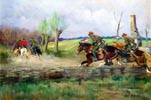 Uhlans in Pursuit of Cossacks