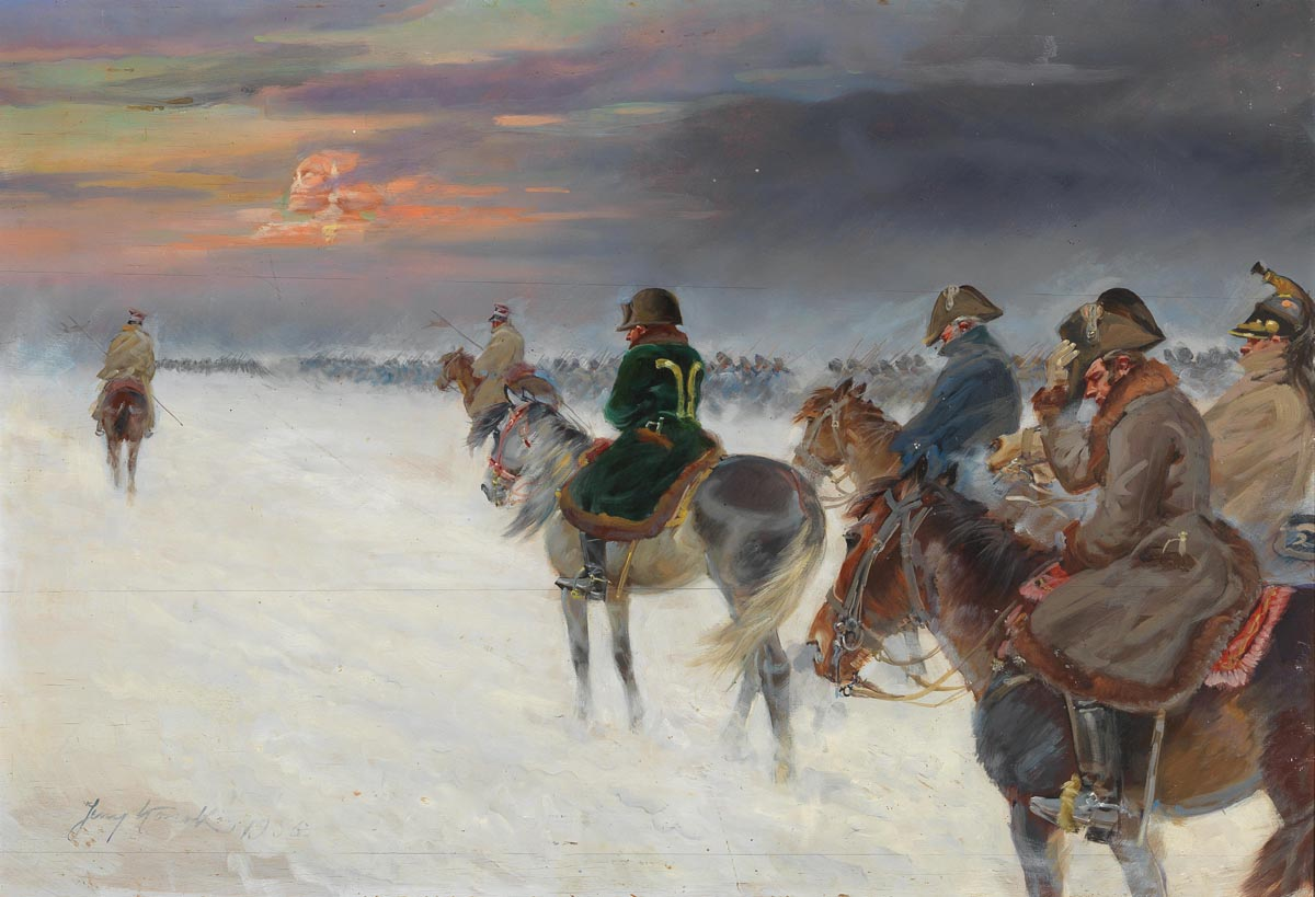 Napoleon's Retreat from the Russian Campaign with Memories of the Egyptian Expedition