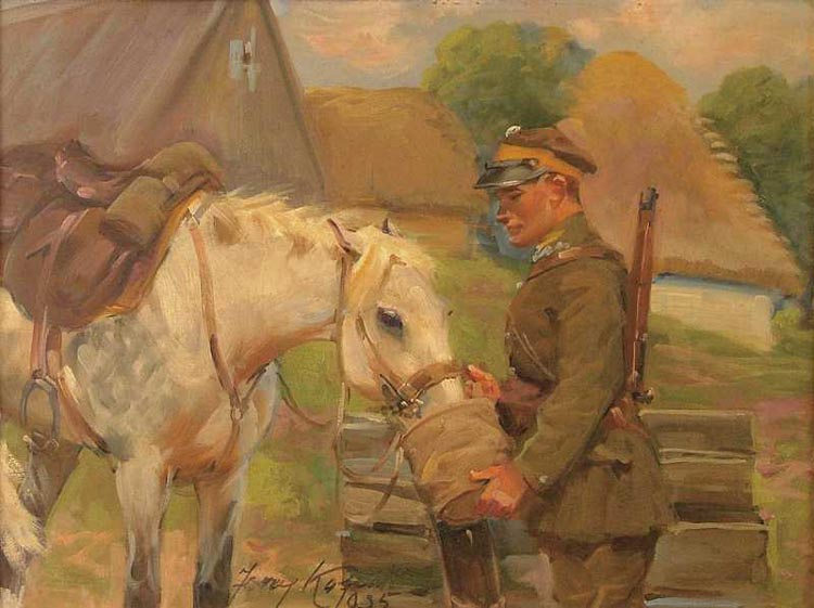Soldier Watering His Horse