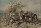 Cossack and a Girl at the Well