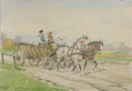 Man and Woman in Horse-Drawn Cart