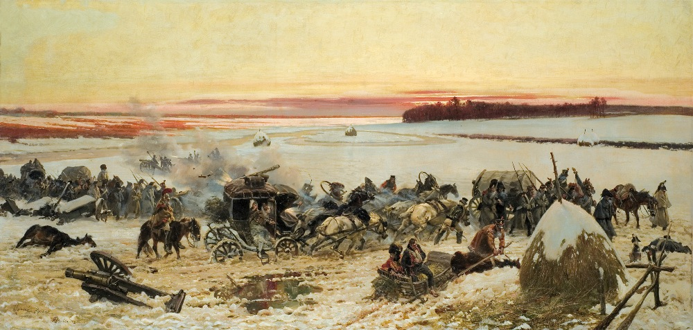 Crossing the Berezina River by Napoleon's Army