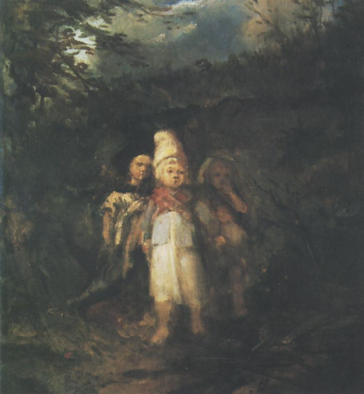 Children in a Forest