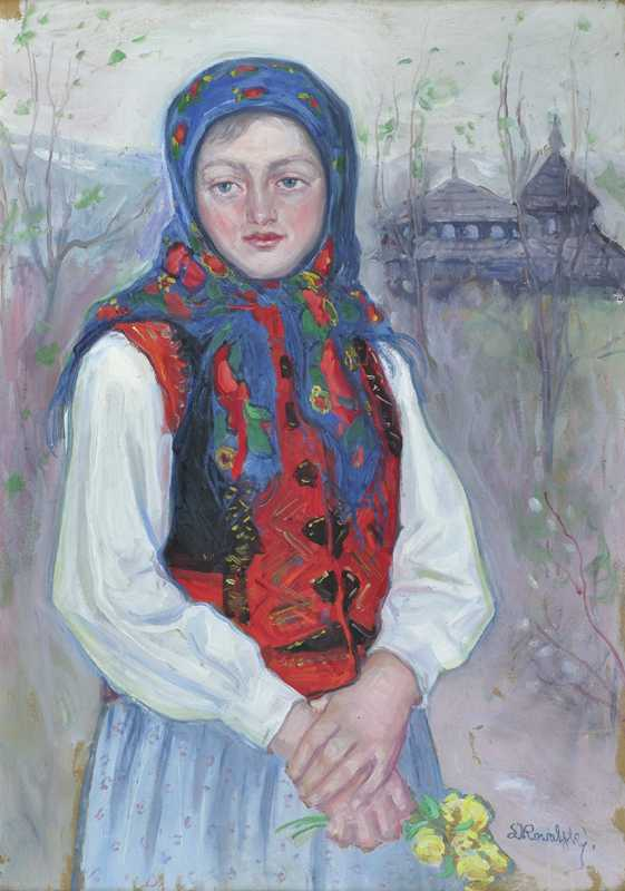 Girl in a Folk Costume