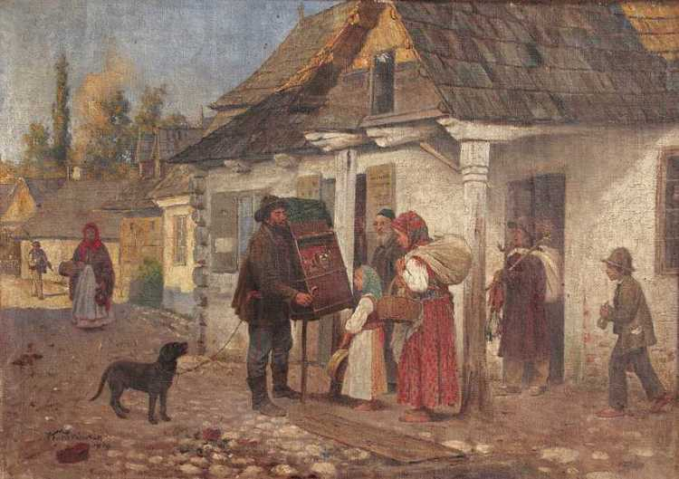 Genre Scene with an Organ Grinder