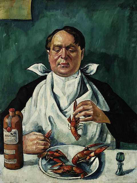 Man Eating Crayfishes (Portrait of Karol Szustr)