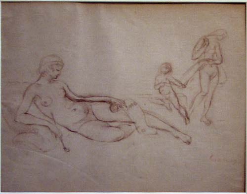 Sketch for the painting Venus of Lesbos
