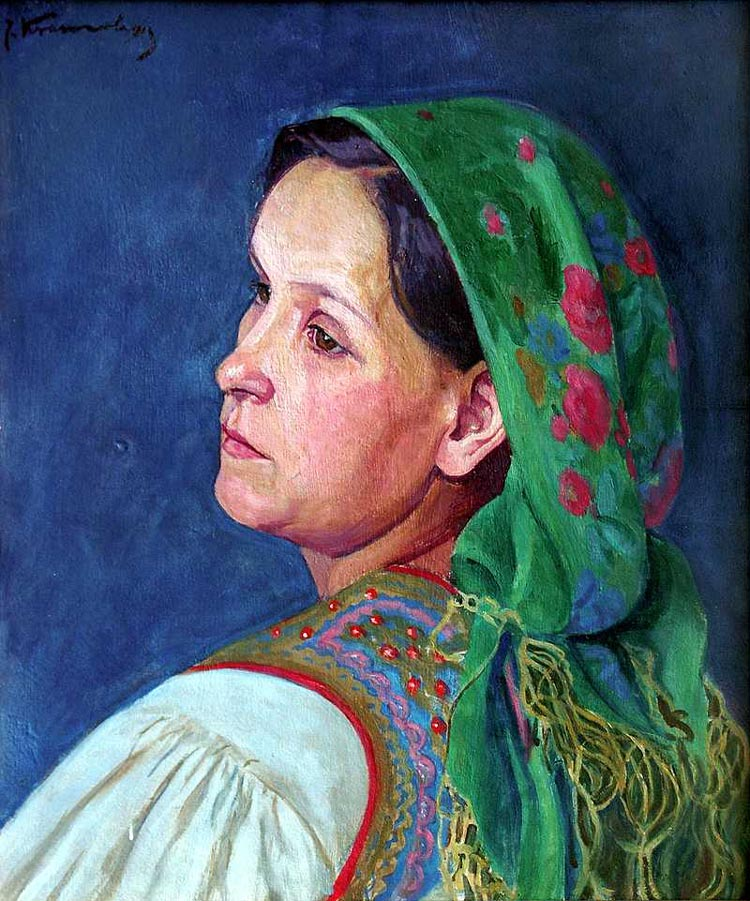 Portrait of the Artist's Wife in Cracovian Costume