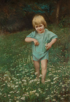 Child Among Flowers