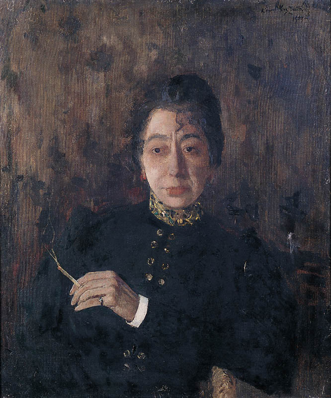 Portrait of a Woman with a Cigarette