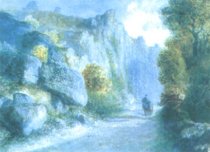Road Among Rocks in Burgundy