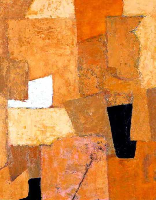 Abstract Composition in Orange