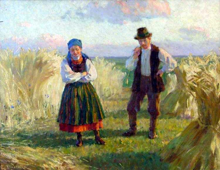 Wheat Field with Peasant