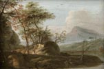 Waterfront Landscape with a Boat and Figures