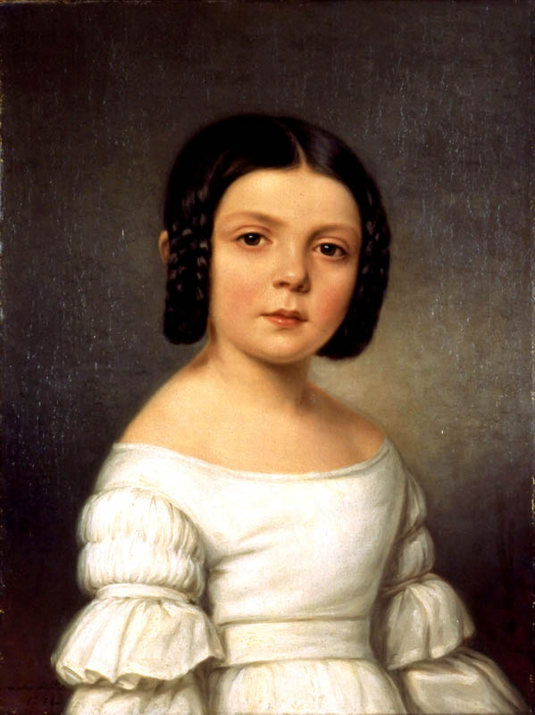 Portrait of a Dark Haired Girl