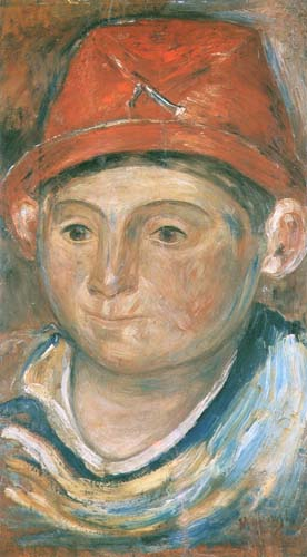 Head of the Boy in a Red Hat