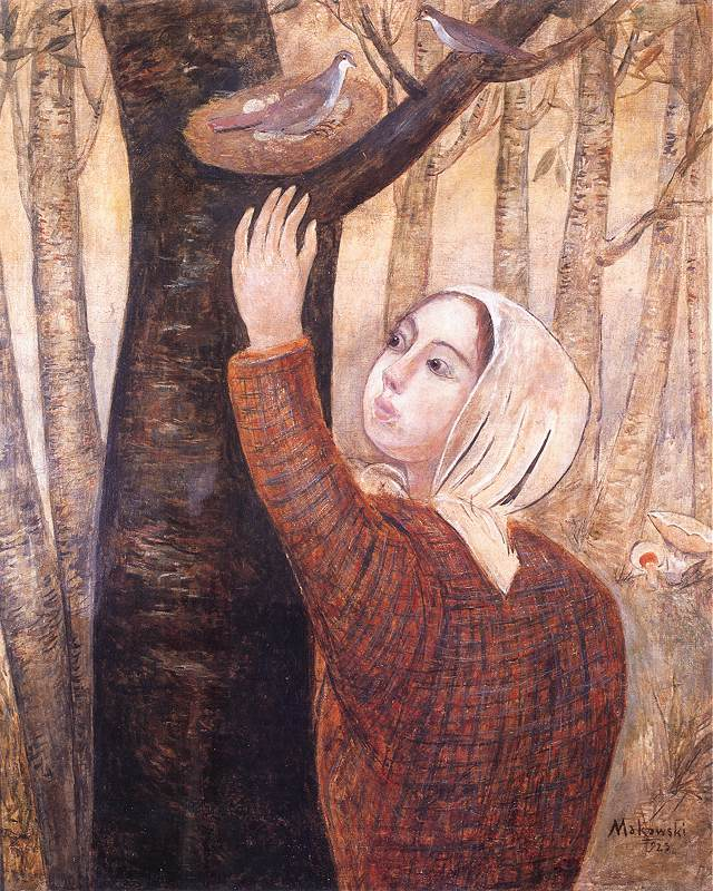 Girl Reaching a Nest