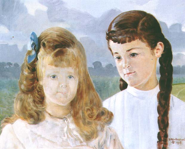 Portrait of Karolina and Adelajda Lanckoronska