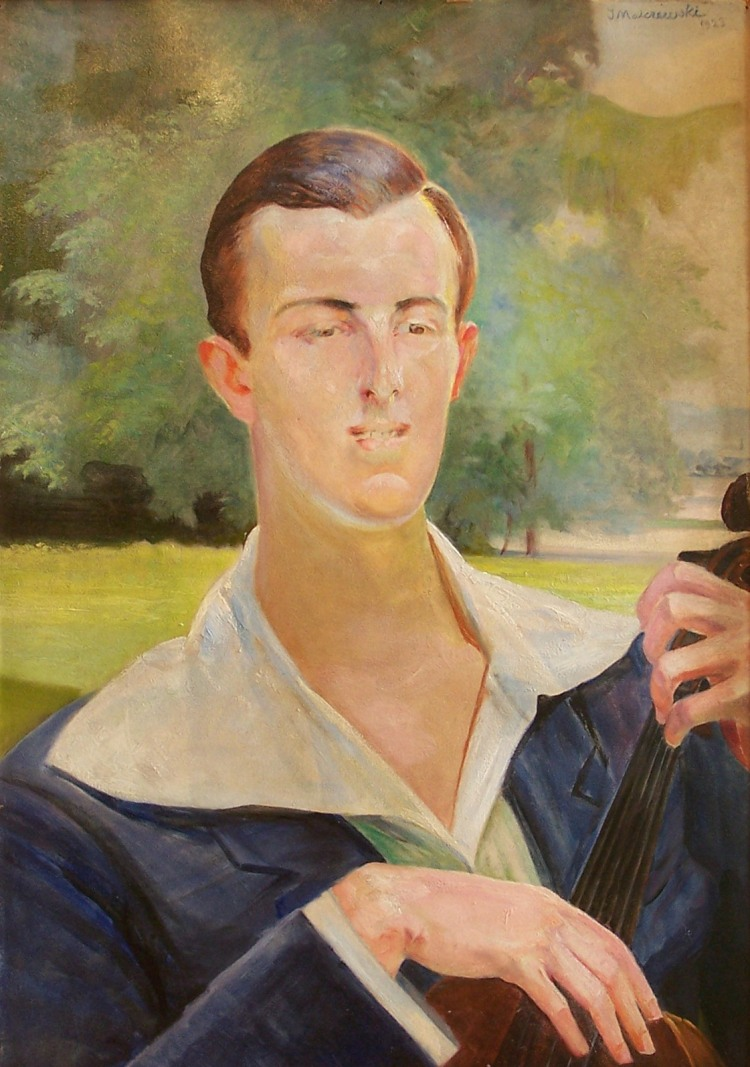 Portrait of a Man with a Cello