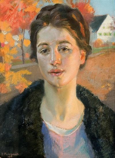 Portret w jesiennym słońcu