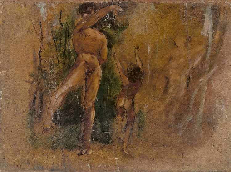 Study for The Dancing Lesson