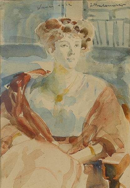 Portrait of Marchese Guilia Asinari Di Bernezzo, wife of Witold Hausner