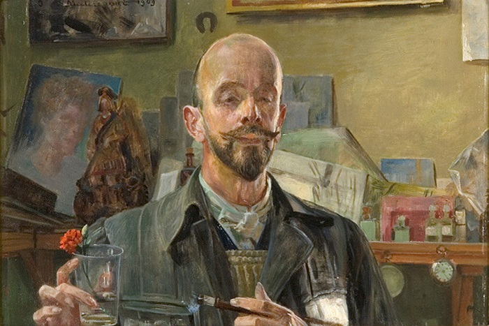 Self-Portrait in a Studio