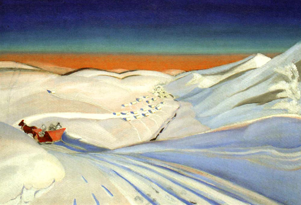 Landscape with a Sledge