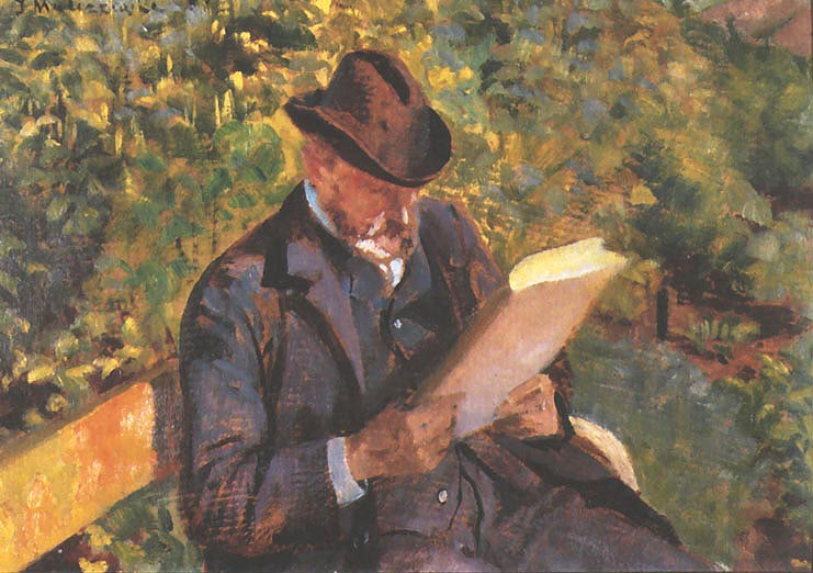Portrait of a Man Reading