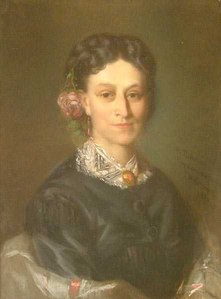 Portrait of a Woman with a Rose in Her Hair