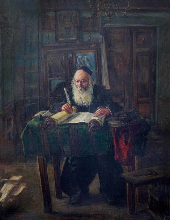 Scripture Copyist in his Chamber