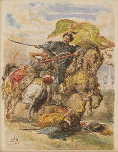 King Jan Sobieski Takes the Banner at the Battle of Vienna