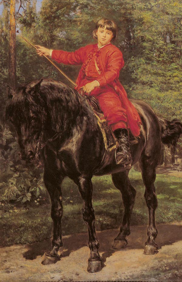Portrait of the Artist's Son on Horseback