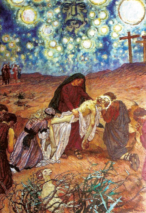 Stations of the Cross, Station XIII, The Body of Jesus is Taken Down From the Cross