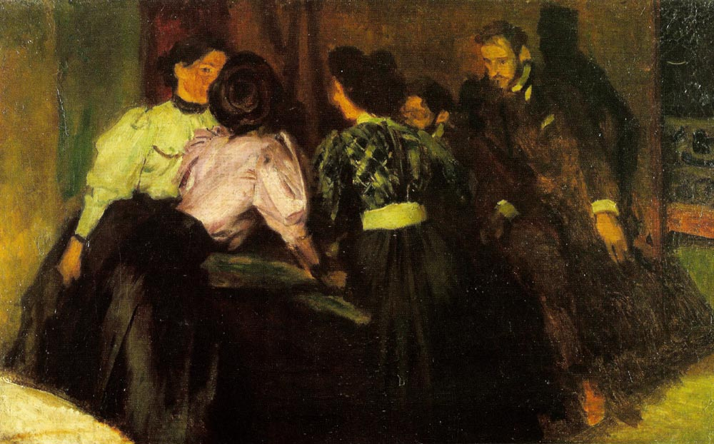 Sketch for the painting The Conversation