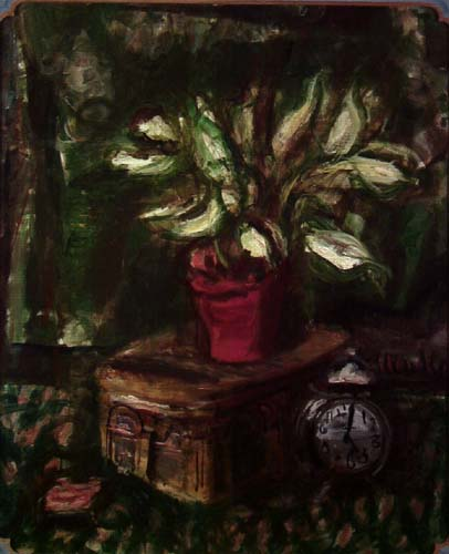 Still Life with Green Flowers