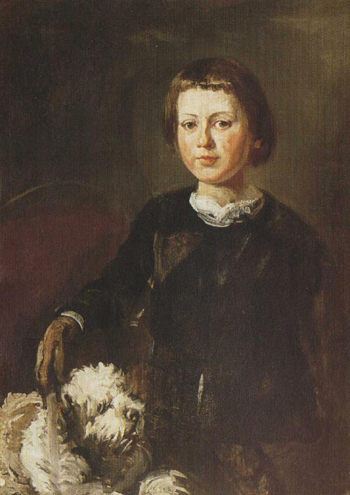 Portrait of the Artist's Son with a Dog