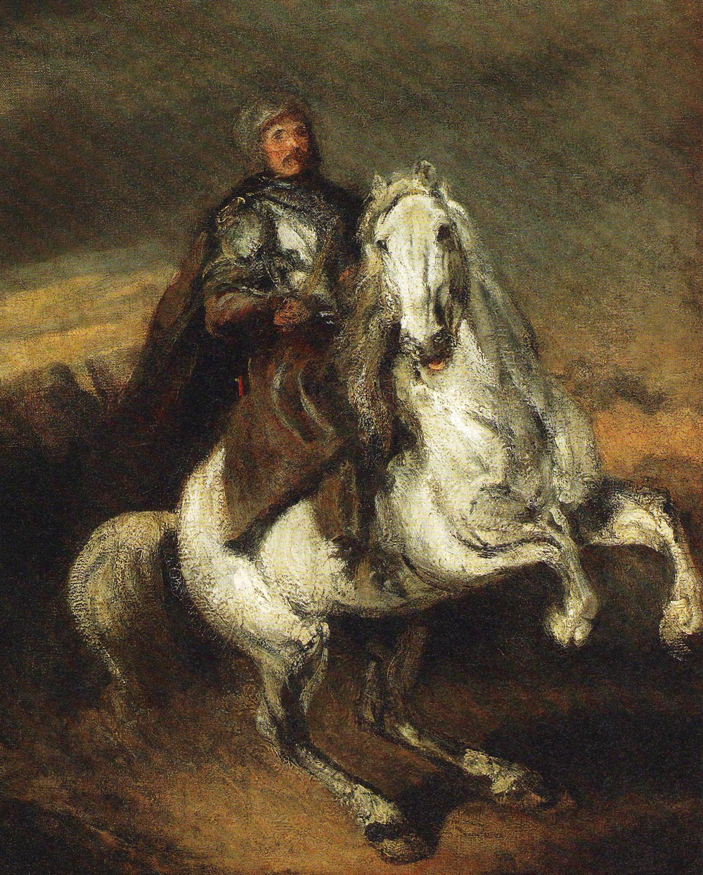 Rider on a Grey Horse