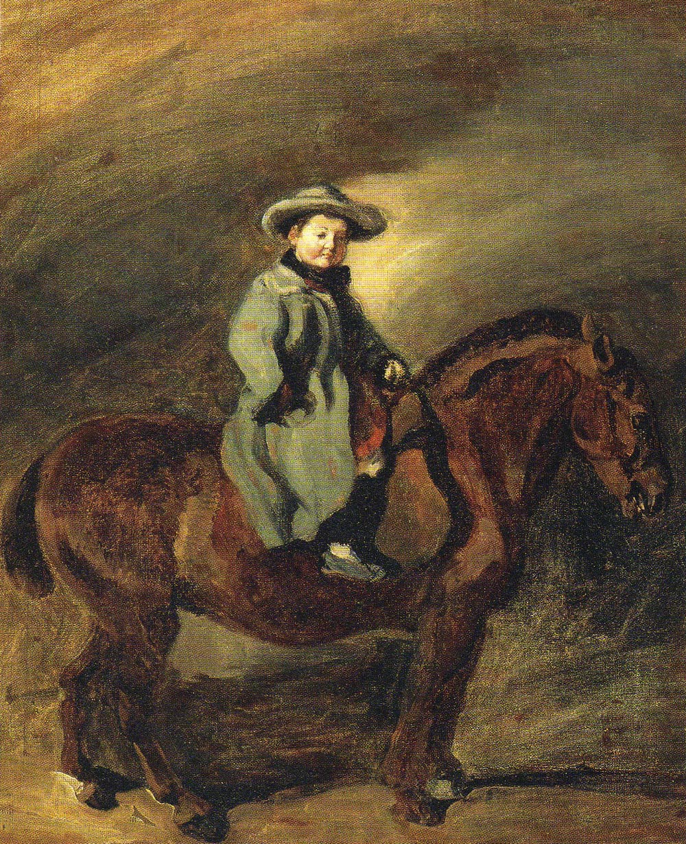 Artist's Son on a Donkey