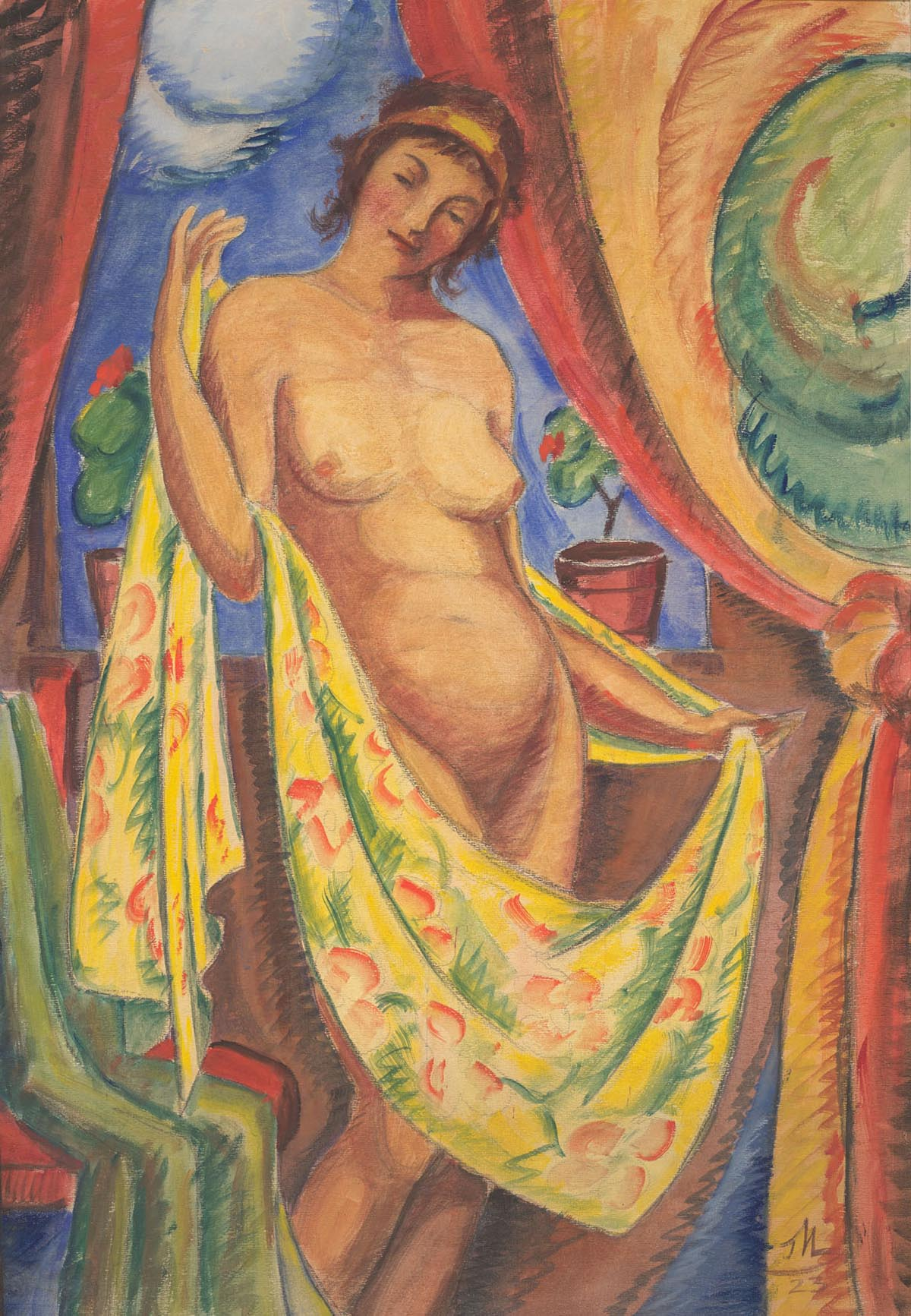 Nude with a Golden Shawl