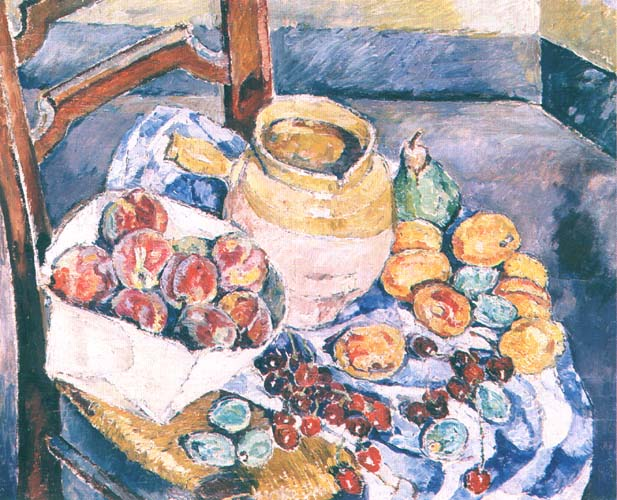 Still Life with a Jug and Cherries