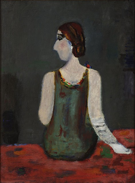 Portrait of a Young Woman in a Green Dress